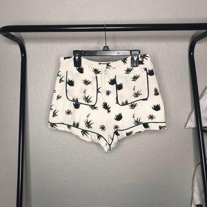 Topshop Petite Plant Shorts